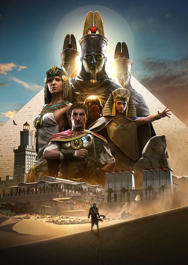 Assassin S Creed Origins Key Art Vertical Antico Egitto Egitto Totoro