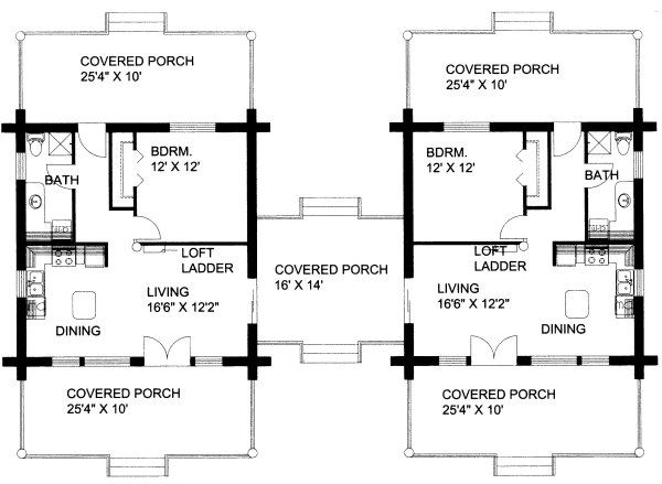 Plan No 455901 House Plans By Westhomeplanners Com Dog Trot House Plans Dog Trot House Duplex House Plans