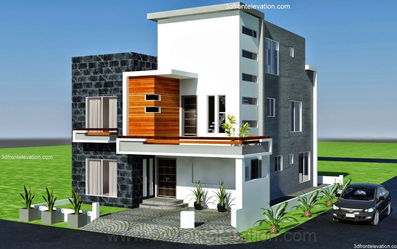 10 marla modern architecture house plan corner plot design in lahore - Designs Of Houses
