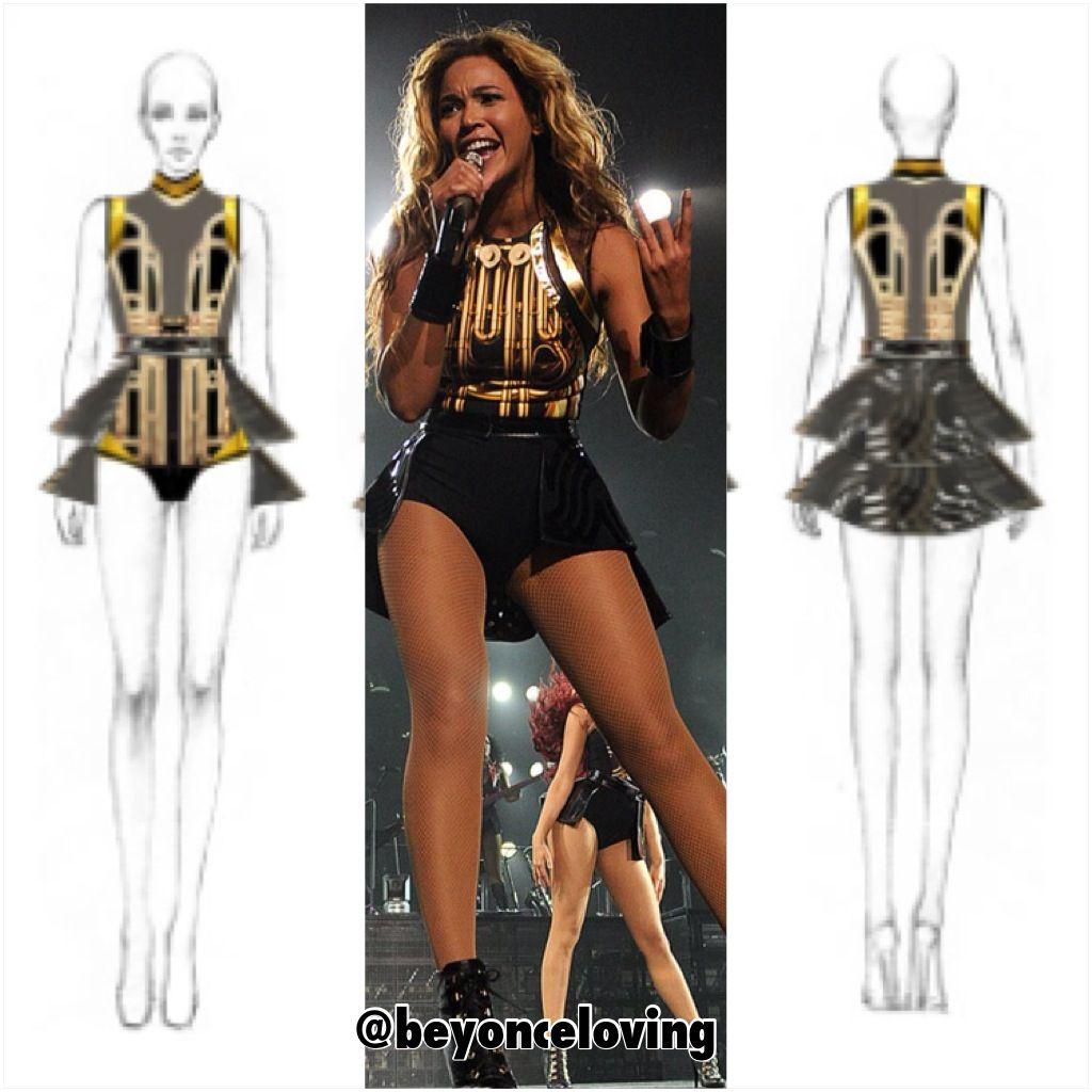 beyonce tour outfit 2013 tour designs beyonce costume