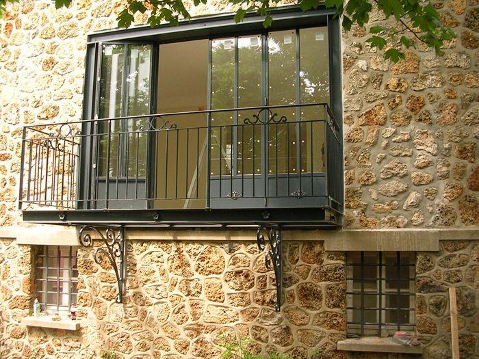 Bow windows Turpin- longueville  exemple suspendu adossé à façade - Exemple De Facade De Maison