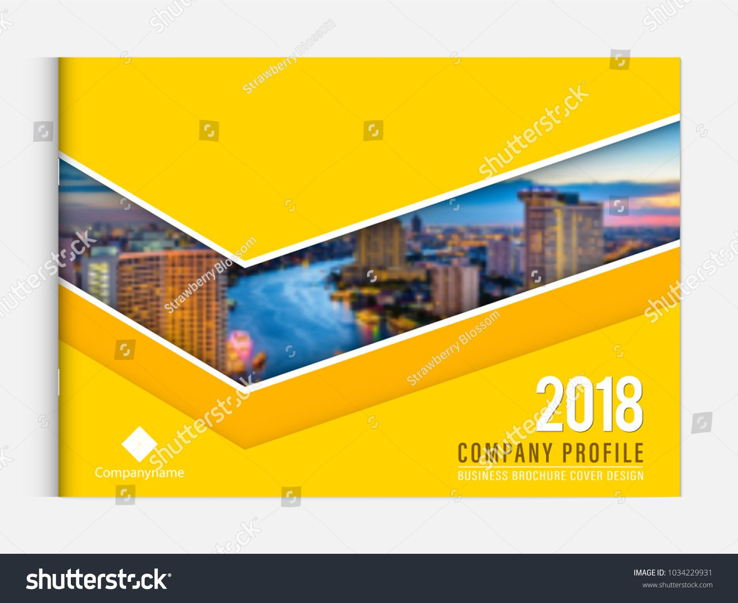 Business Brochure Cover Design Template Corporate Company Profile