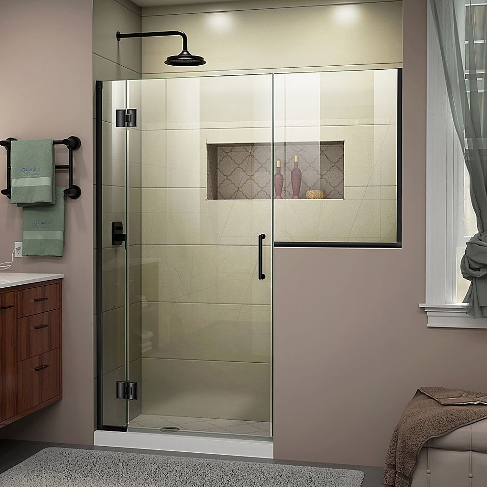 Dreamline Unidoor X 59 59 55 W X 72 H Frameless Hinged Shower