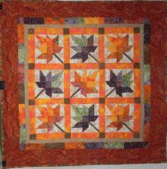 Maple Leaf quilt | block | Pinterest | Barn quilts, Mini quilts ... : maple leaf quilt patterns - Adamdwight.com