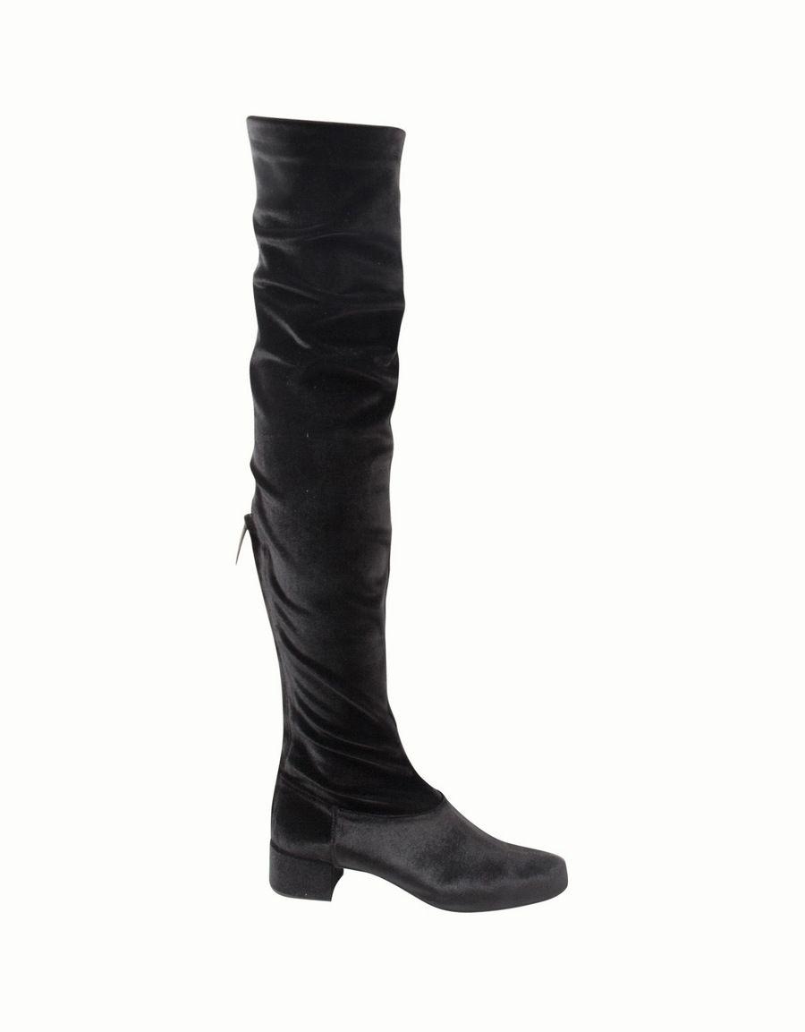 Alberta Ferretti Velvet over-the-knee boots Achats En Ligne Avec Mastercard wdAyLsfd5