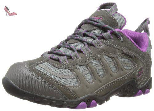 Hi-Tec Windermere, Chaussures de Randonnée Hautes Femme - Gris (charcoal/purple), 39 EU