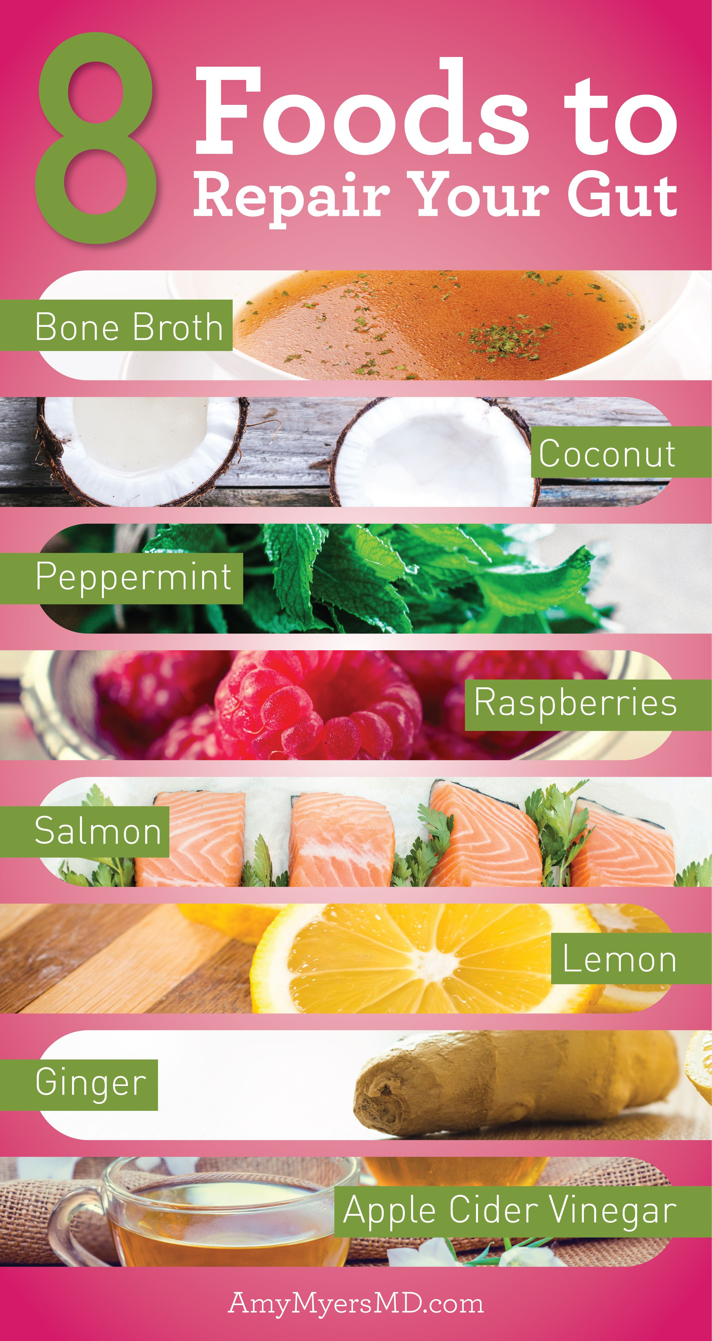 8 Foods To Repair Your Gut That You Should Be Eating Amy Myers Md Coconut Health Benefits Diet And Nutrition Digestive Health
