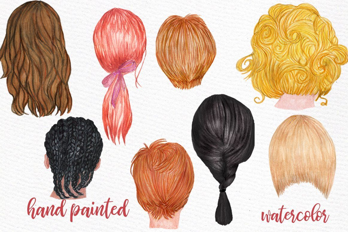 Hairstyles Clipart Custom Hairstyle With Images Hair Clipart