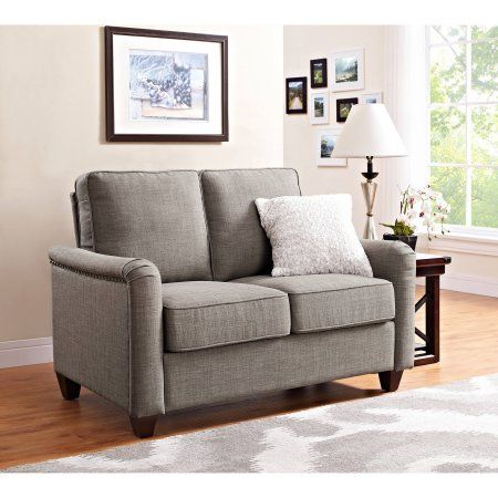 Better Homes And Gardens Grayson Loveseat With Nailheads Grey Gray