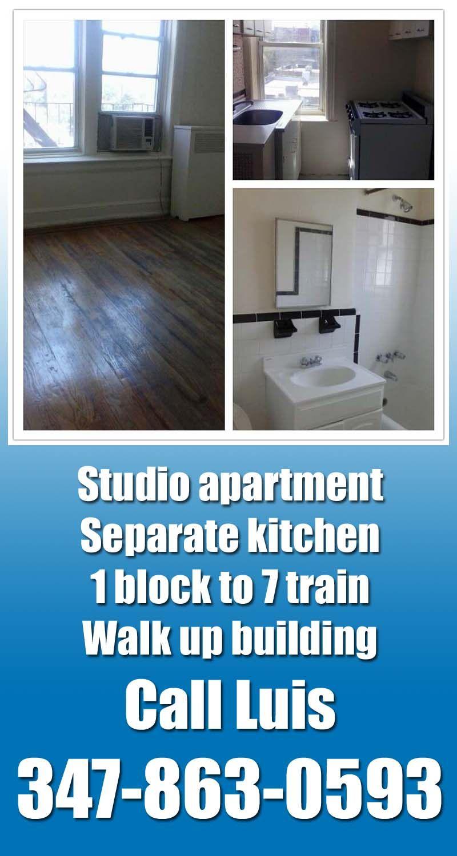 Studio Apartment Queens studio apartment in doorman building for rent in forest hills