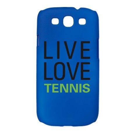 Live Love Tennis Galaxy S3 Case
