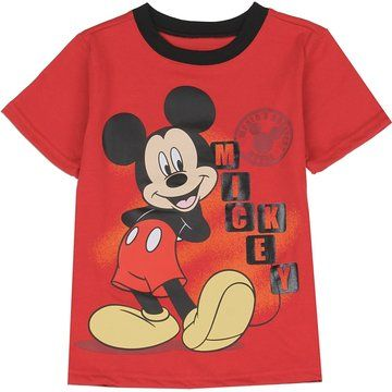 Mickey Mouse Roadster Blue Toddler Boys Disney Junior T Shirt Size 2T New