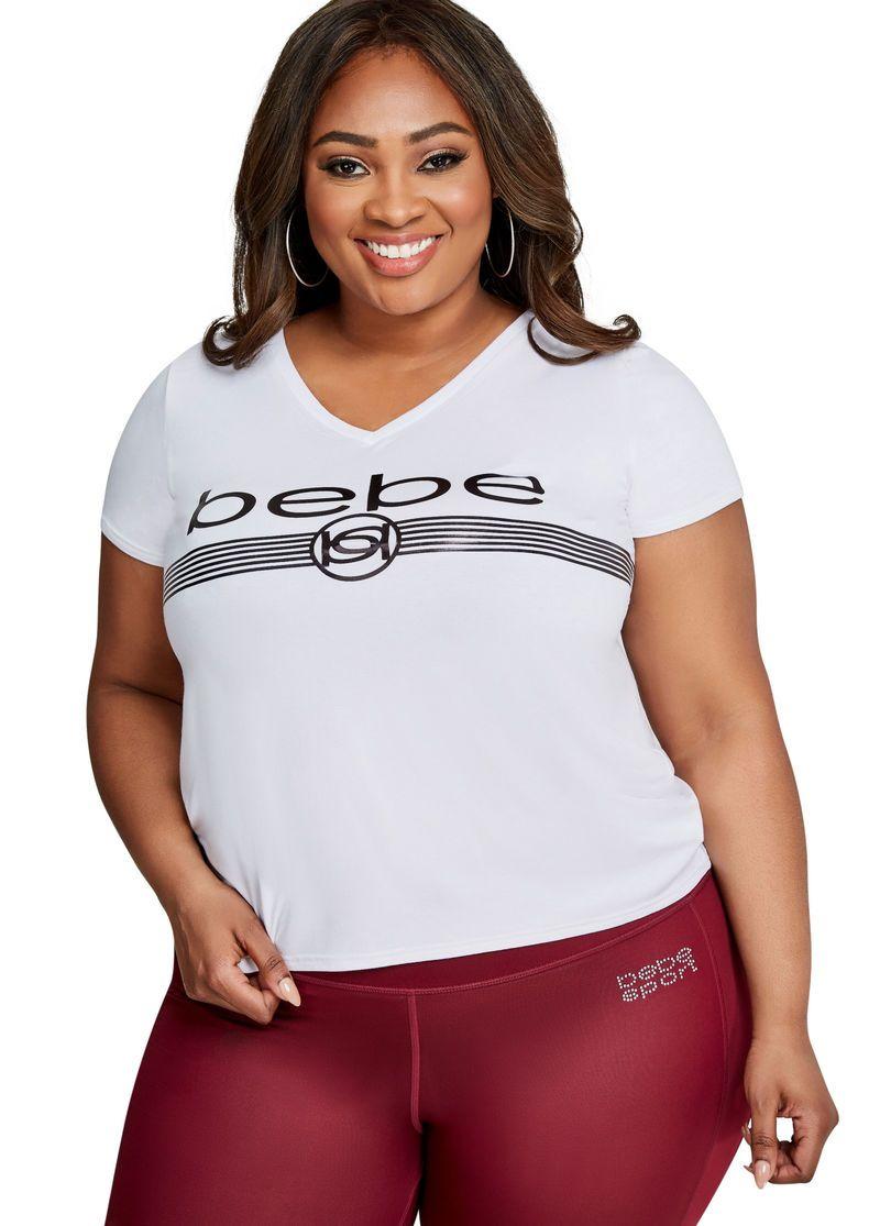 7eaa773ae1c Bebe Foil Logo Tee