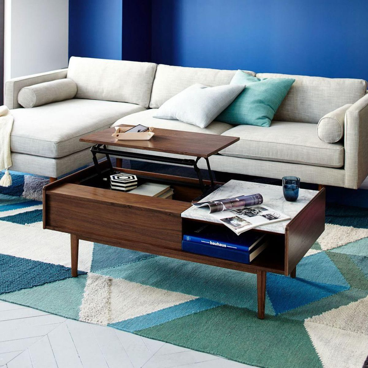 True to its name our midcenturyinspired coffee table features a