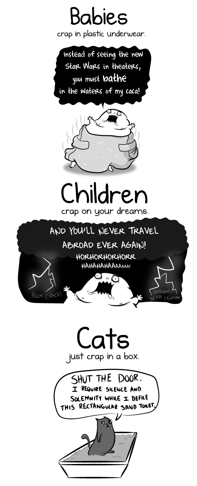 Having a baby VS having a cat - The Oatmeal