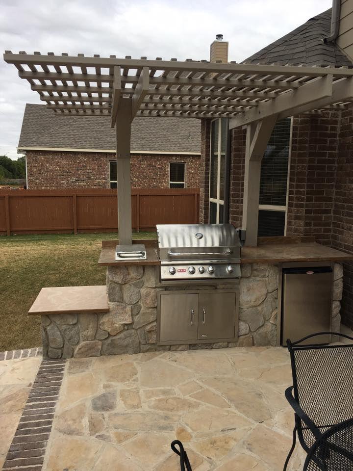 10 Foot Straight Outdoor Kitchen Installed In Schertz Tx Outdoor Kitchen Kitchen Installation Outdoor