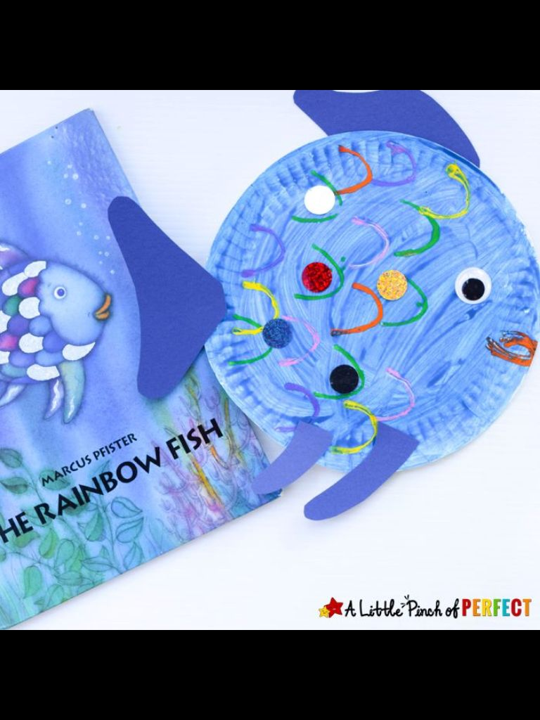 Paper Plate Fish Craft Inspired By The Rainbow A Perfect Read And Book Activity For Kids Preschool Kindergarten Ocean Summer