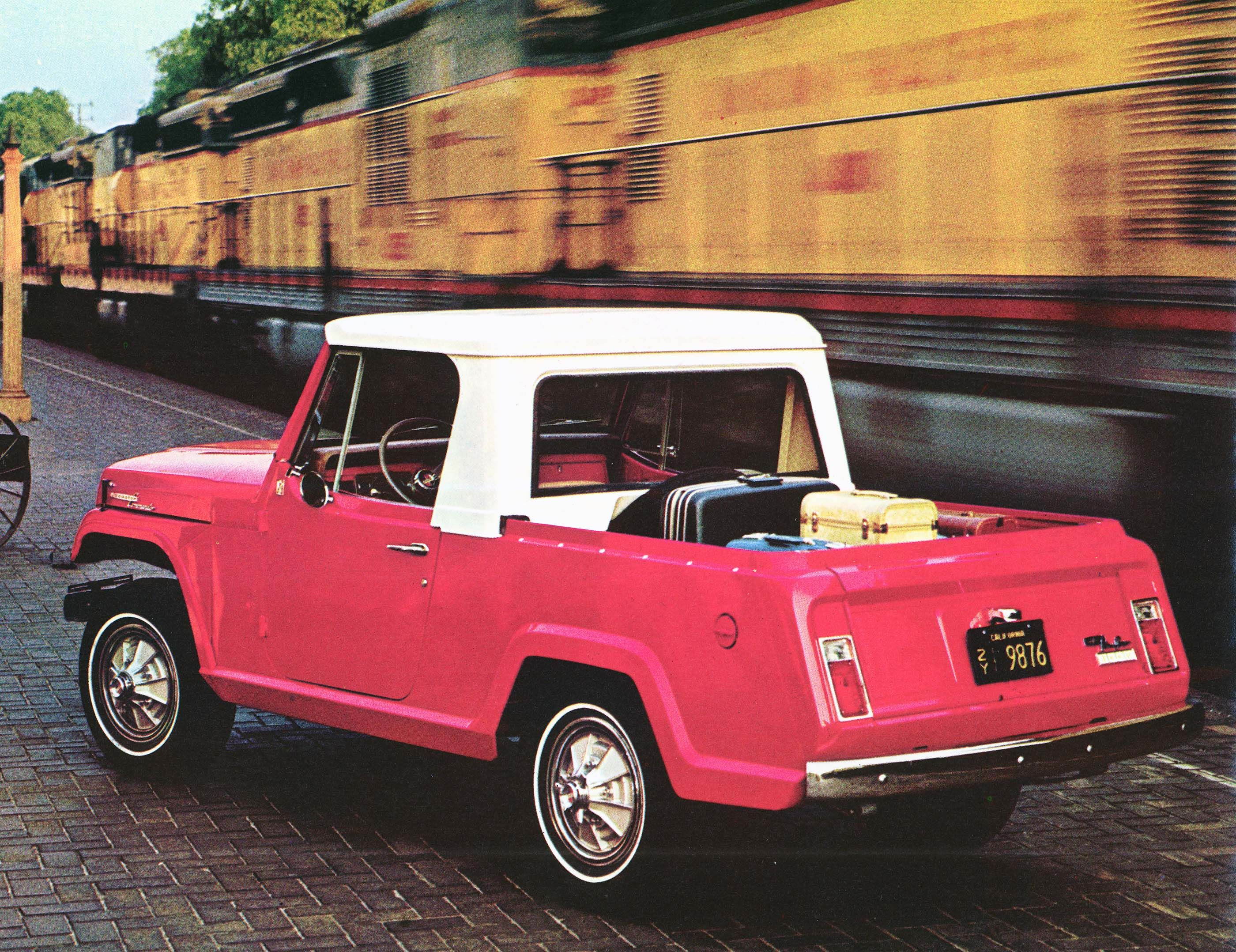 1967 jeep jeepster commando pick up so cute looks like it has mustang hub caps