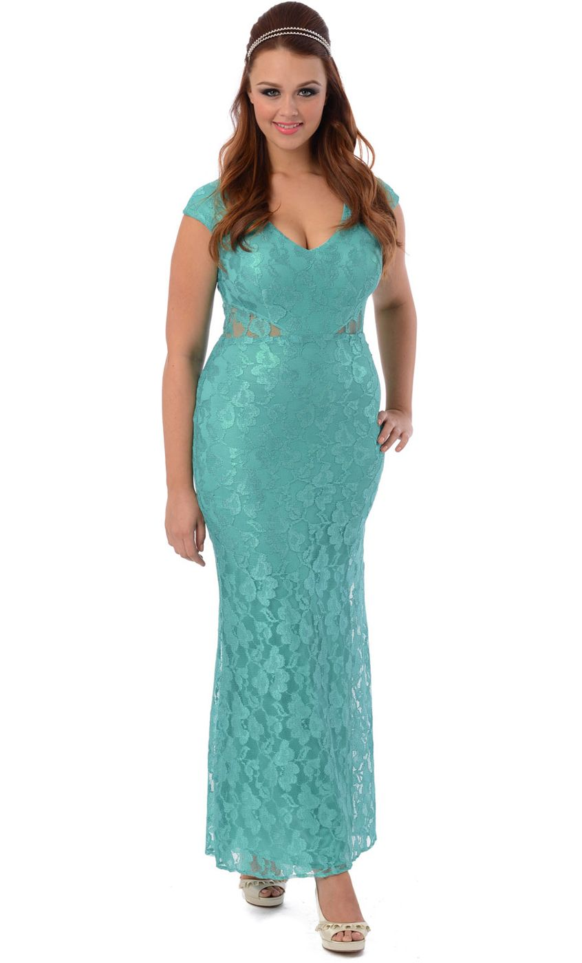 Lace V-Neck Cutout Mother Of the Bride Long Dress | Pinterest ...
