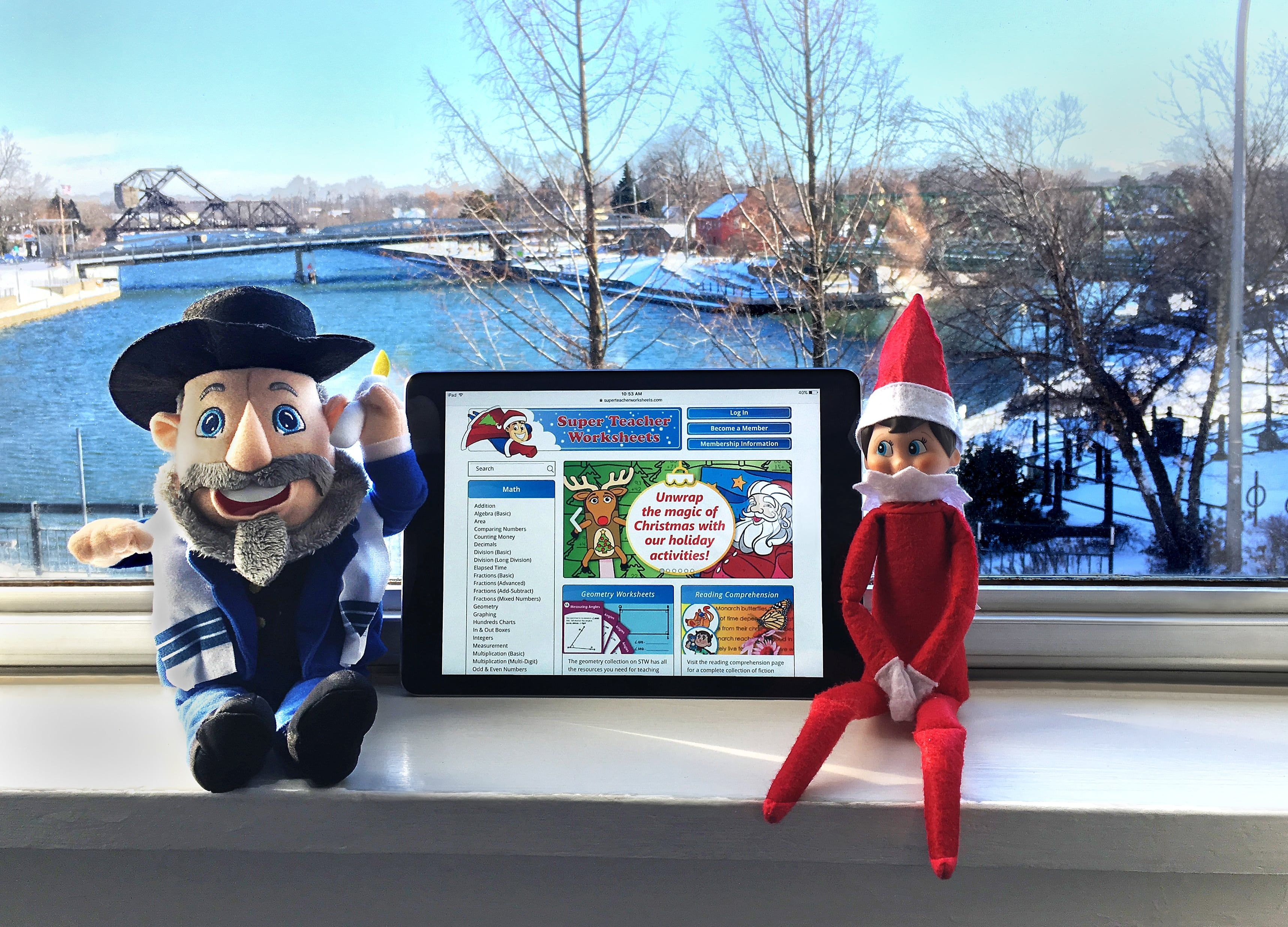 Our office Elf and Mensch are downloading holiday worksheets, crafts ...