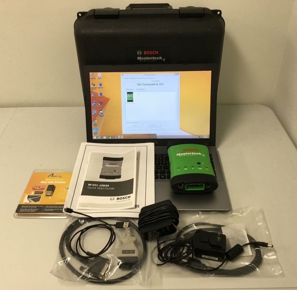 Bosch Mastertech Vci F00k108107 Auto Scan Tool W Asus Laptop Electric Wire Crimping Set Crimper And 8 Dies Automotive Ebay Programs Link