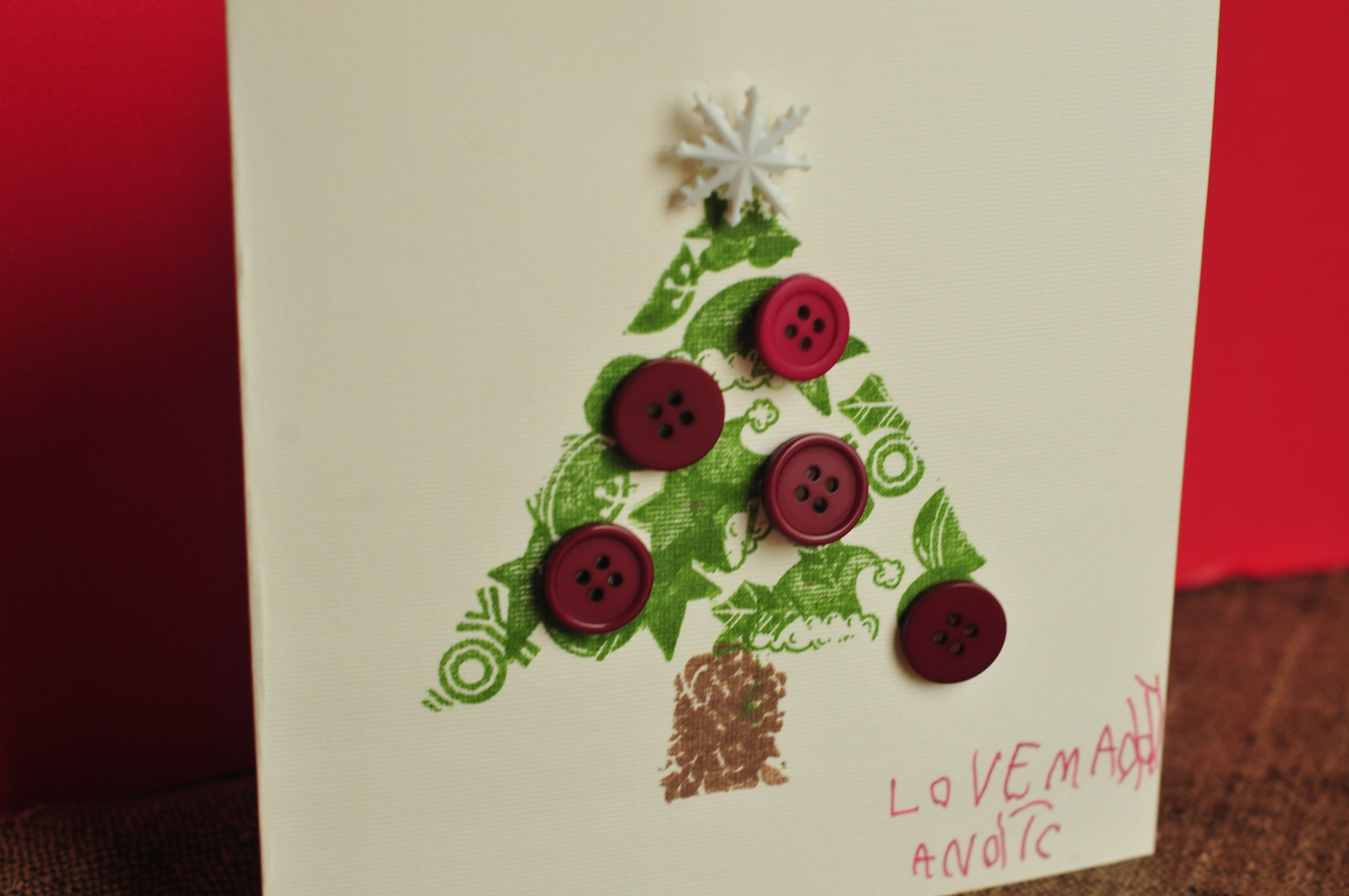 How To Make Xmas Cards Ideas Part - 41: Christmas Crafts For Preschoolers | Make It Pretty Wednesdays: Cute Christmas  Cards That Kids Can
