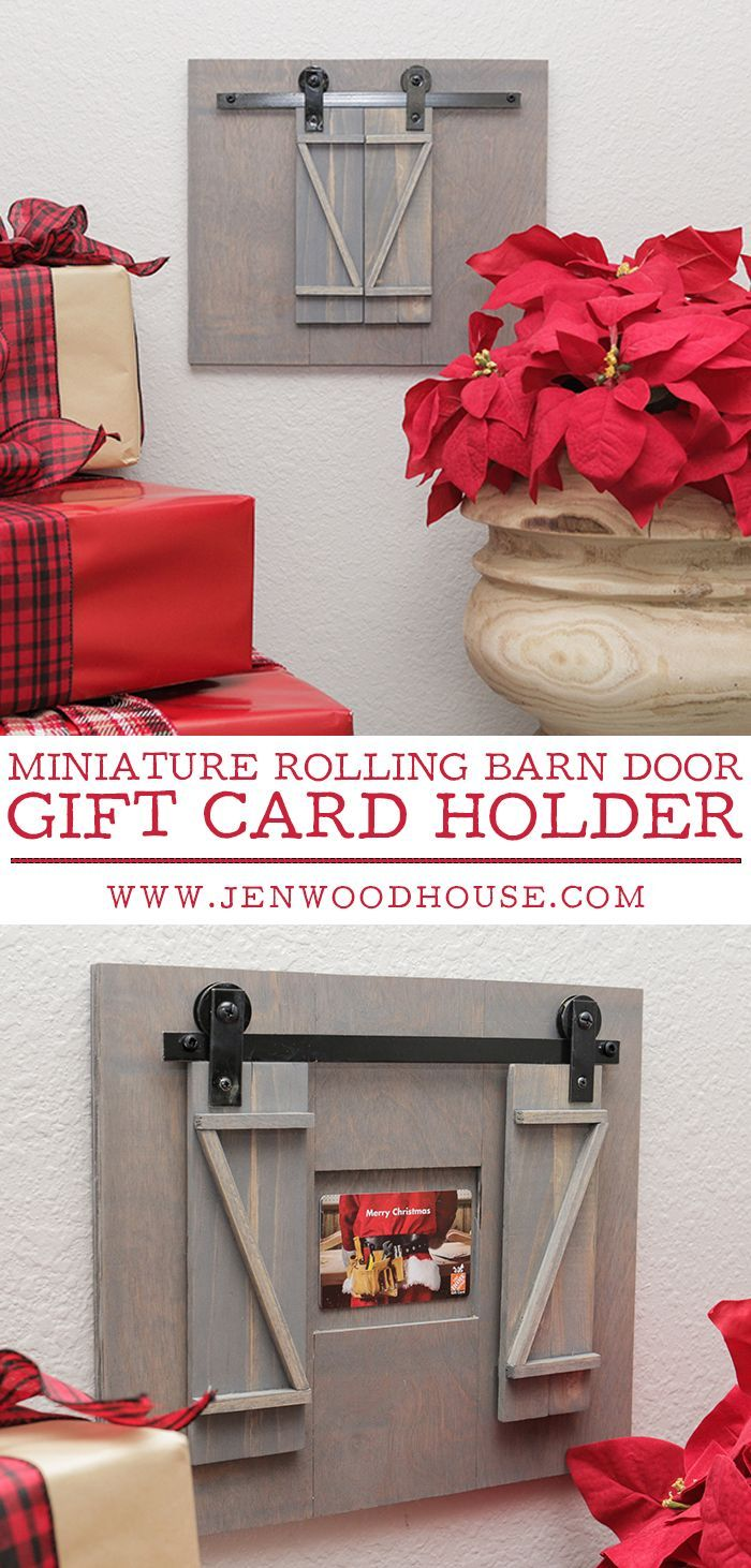 Rolling barn door gift card holder beautiful diy u craft