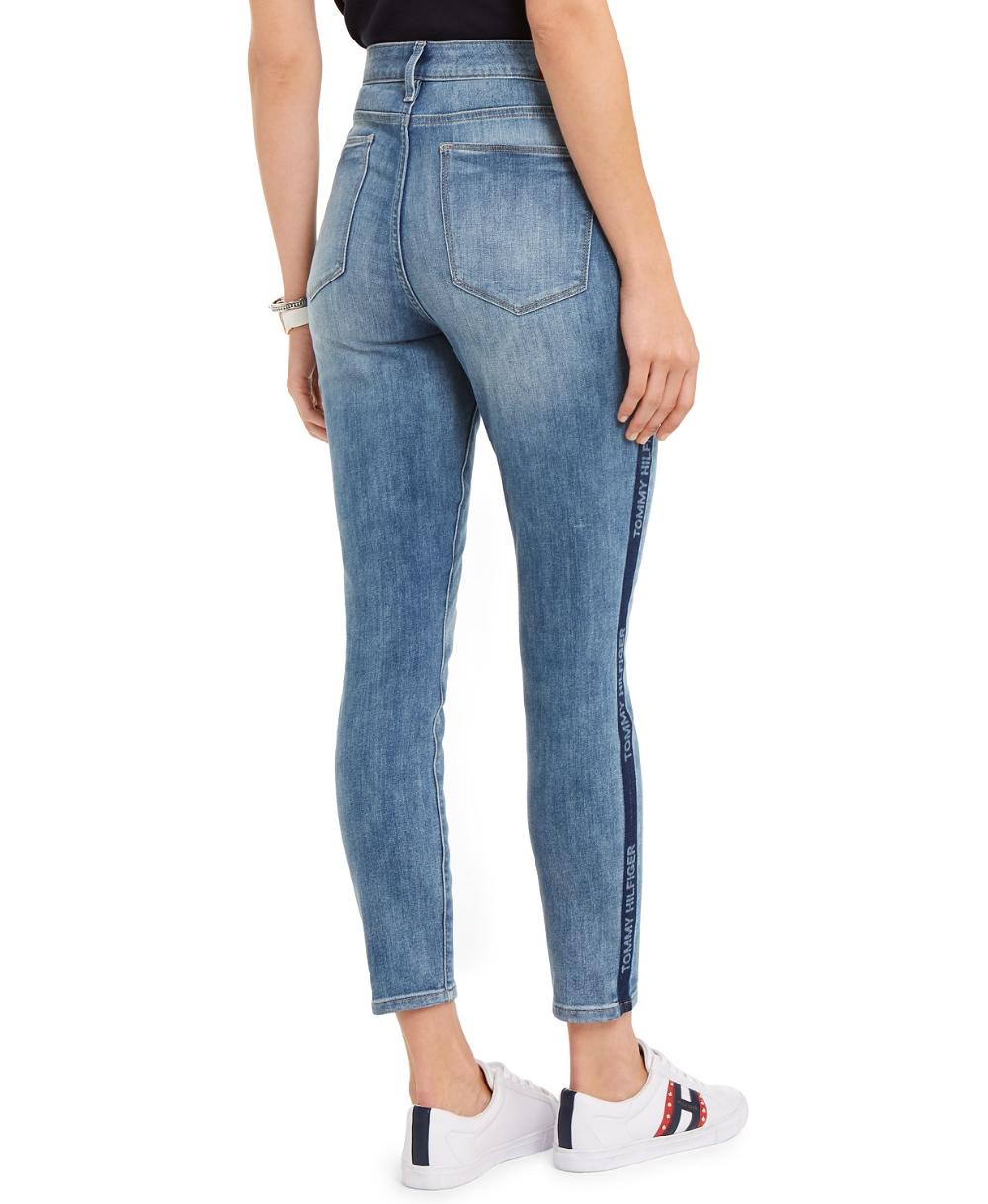 aislamiento Durante ~ Salón  Tommy Hilfiger Logo-Striped Skinny Jeans, Created For Macy's & Reviews -  Jeans - Women - Macy's   Women jeans, Tommy hilfiger, Skinny jeans