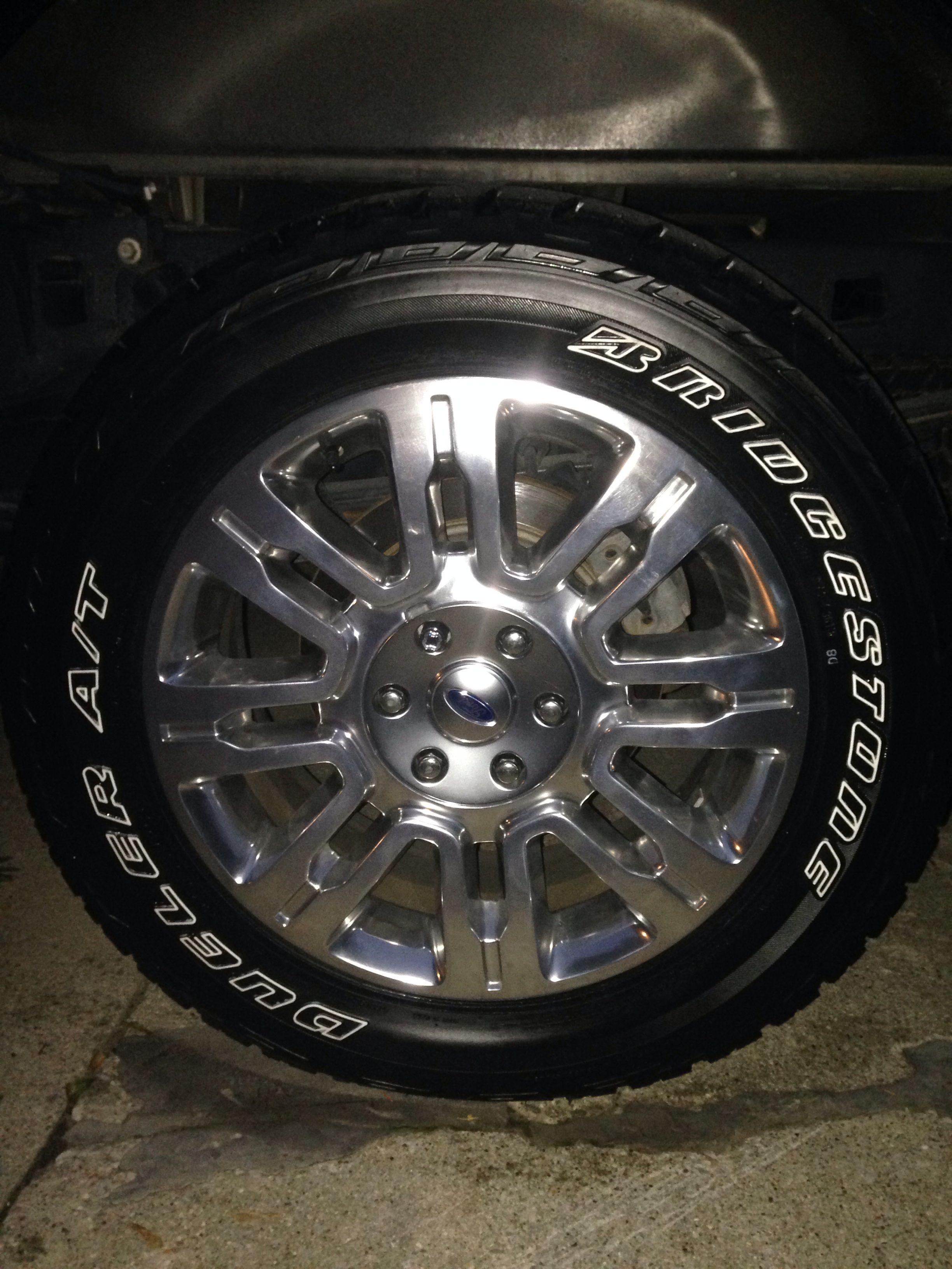 F150 Platinum 20 s wrapped in 275 55 20 OWL Bridgestone Dueller Revo