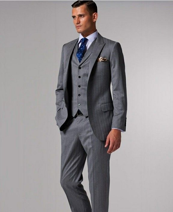 Father Of The Bride Summer Suit Dark Gray