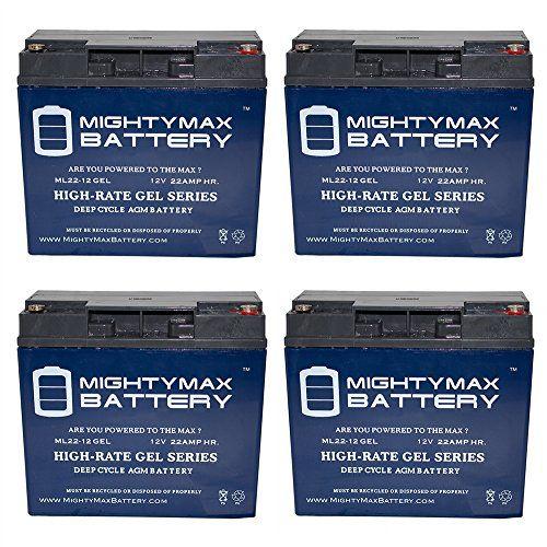 12v 22ah Gel Battery For Cobalt X16 Power Wheelchair 4 Pack
