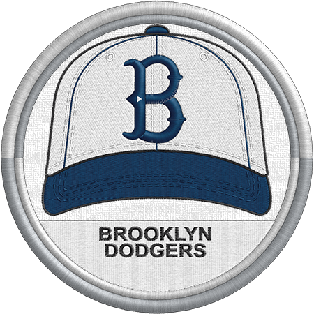 7dc1afcca53 Brooklyn Dodgers cap logo. National League