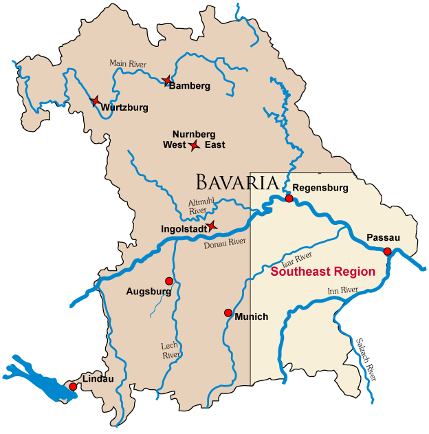 Map Of German Castle Locations In Bavaria Wherever The Wind: Map Of Bavaria Germany With Cities At Infoasik.co