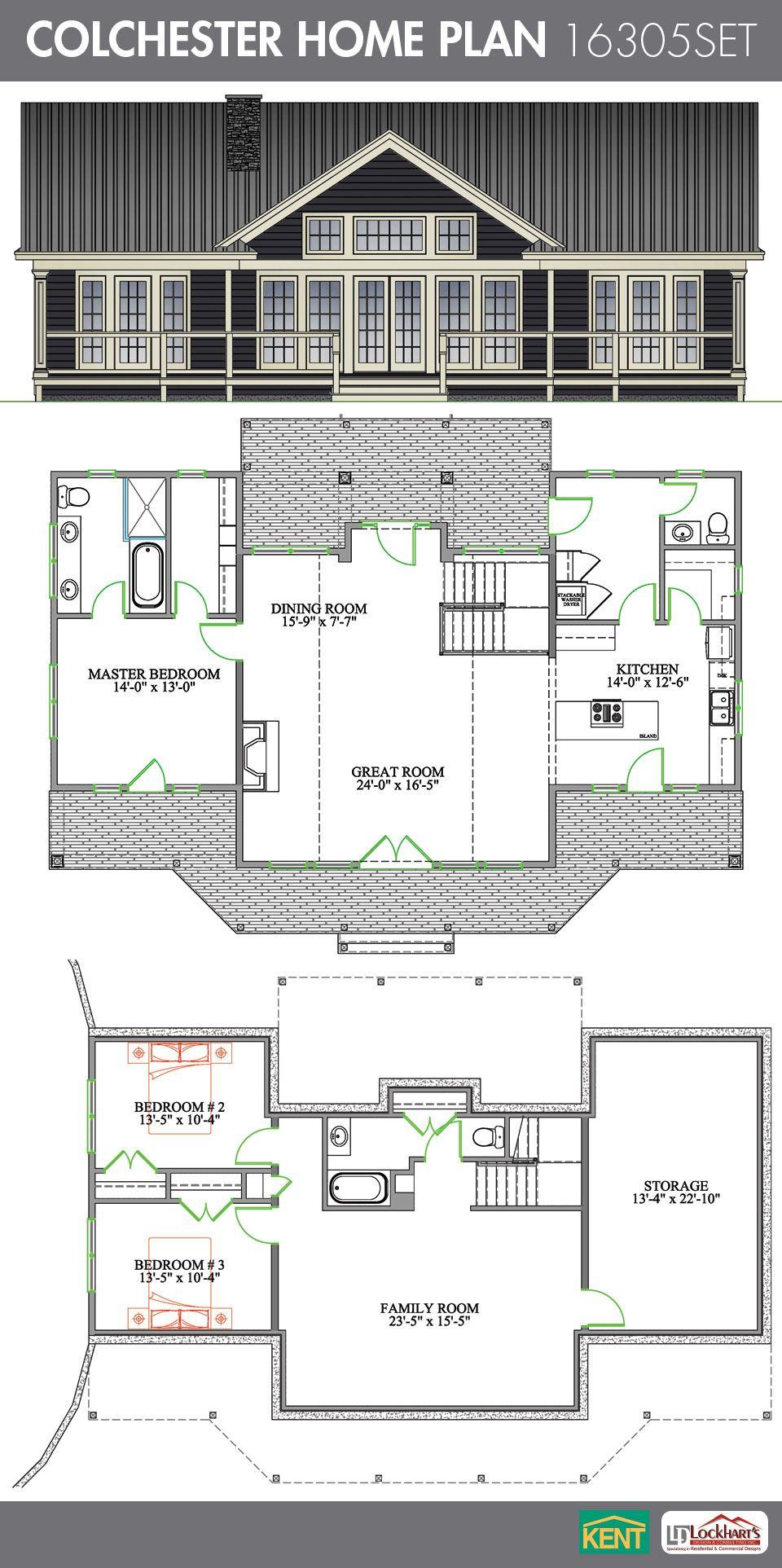 Colchester 3 bedroom 2 1 2 bath home plan Features open concept