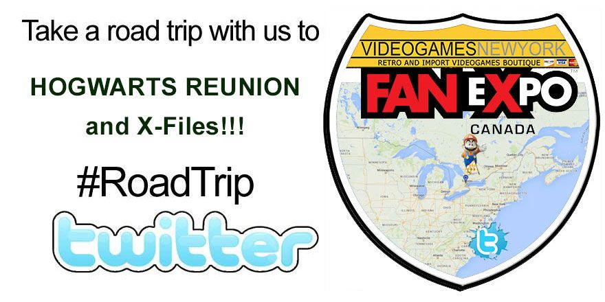 Its time for another #RoadTrip with Videogamesnewyork!  This week we are back in CANADA with X-Files and the HOGWARTS REUNION @FanExpo Canada!