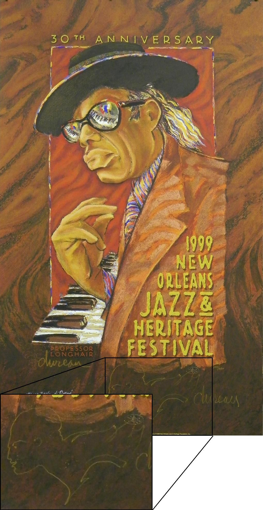 wwwart4nowcom jazz fest poster 1999 in vintage jazz fest