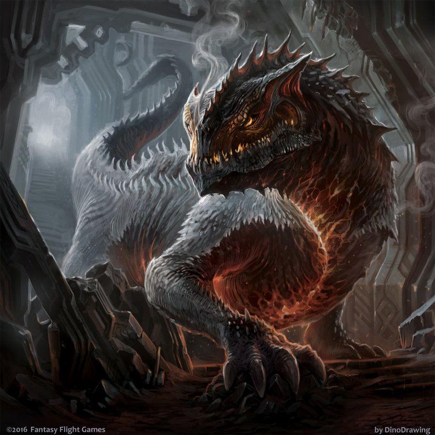 Fantasy Art Wingless Dragon