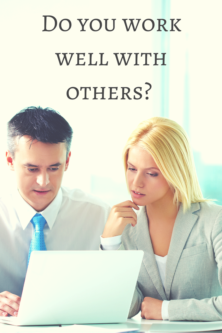 answering interview questions about working with others