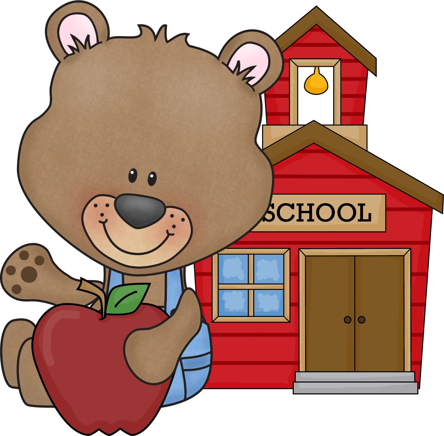school bear | clip art - school - clipart | pinterest | school