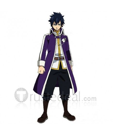 Fairy Tail Gray Fullbuster Fashionalbe Purple Cosplay Costume For Your Anime Conventions Variety Of Updates Choice