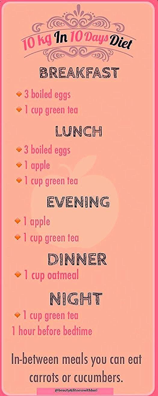 10-tägiger Diät-Ernährungsplan zum Abnehmen: 10 kg - Schönheit & Fitness mit A.bari -  10-tägiger Di...
