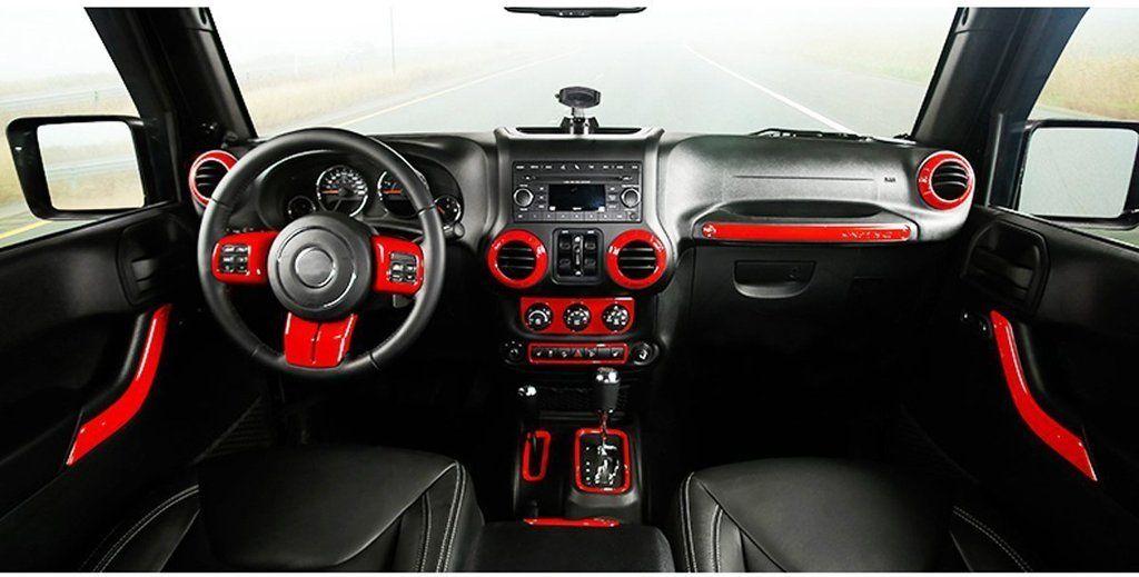 Full Set Interior Decoration Trim Kit For 11 17 Jk 4 Door Jeep