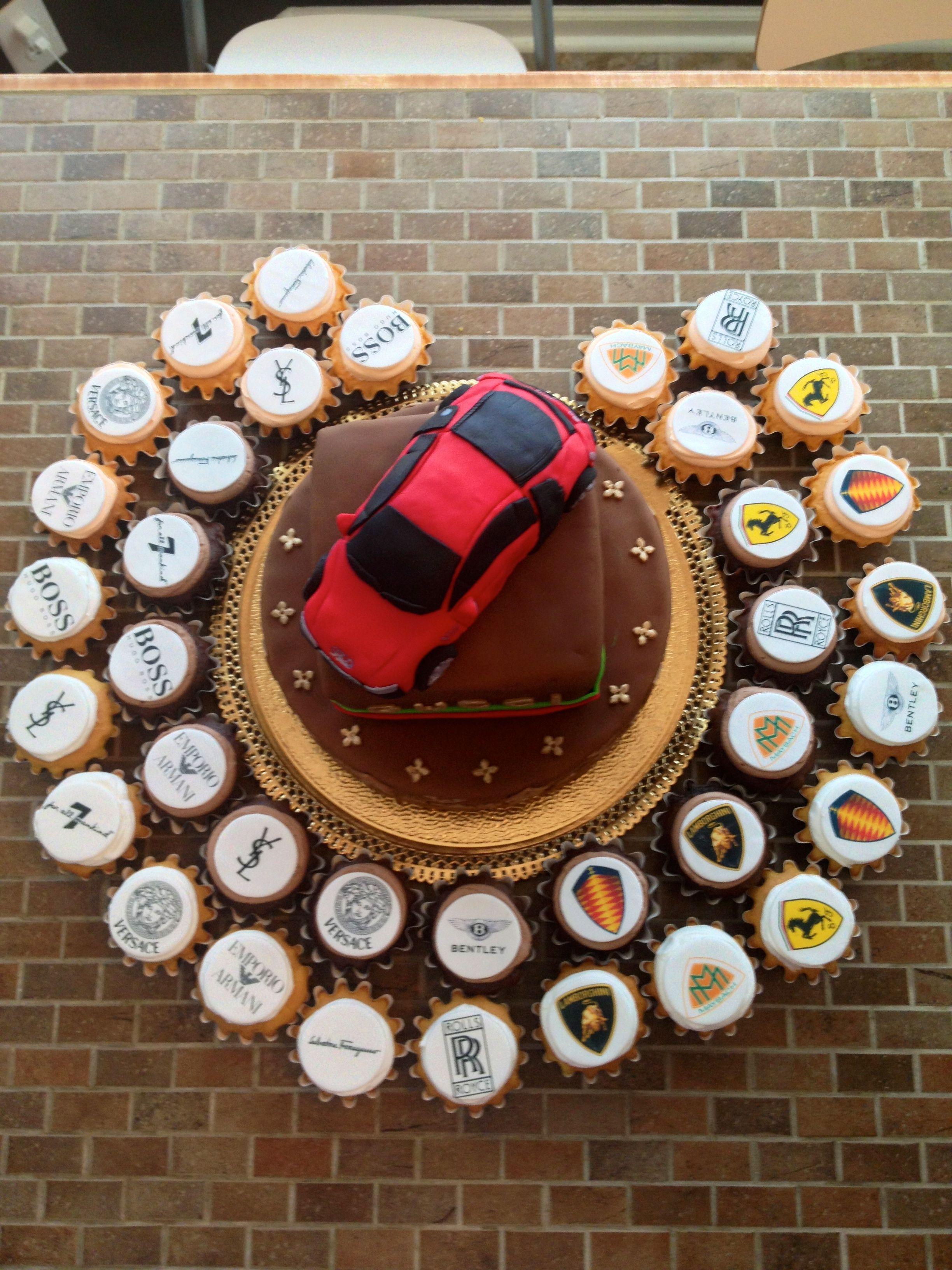 Designer Luxury Cars Cupcakes And Cake Cupcakes Cupcakes Cake