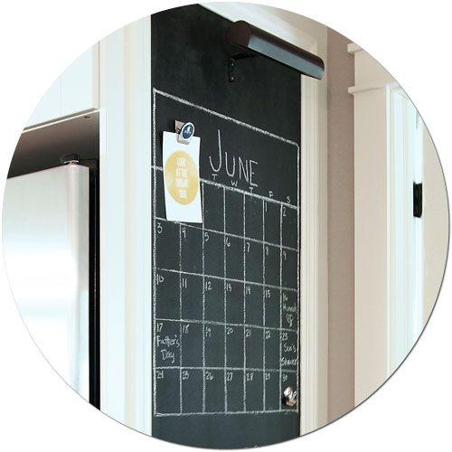 Making A Magnetic Chalkboard. Chalkboard CalendarKitchen ...