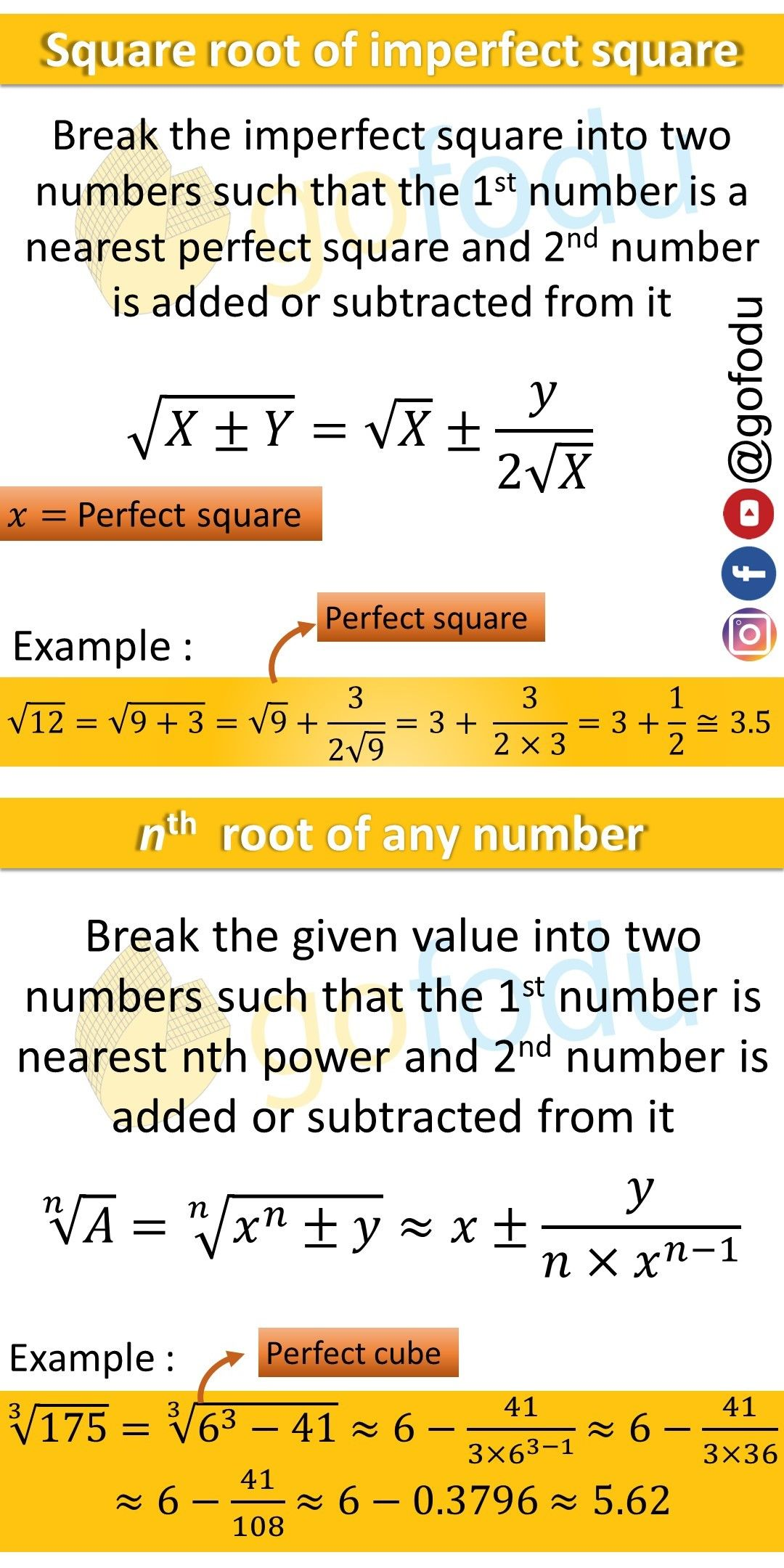 Square Roots Learning Mathematics Exam Preparation Learning Math