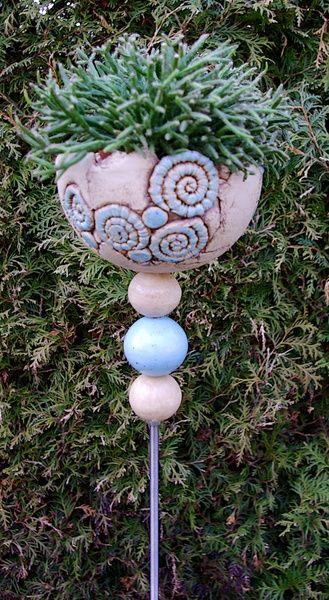 Stele Pflanzstele Keramik Frostfest Von Kleine Topferei Auf Dawanda