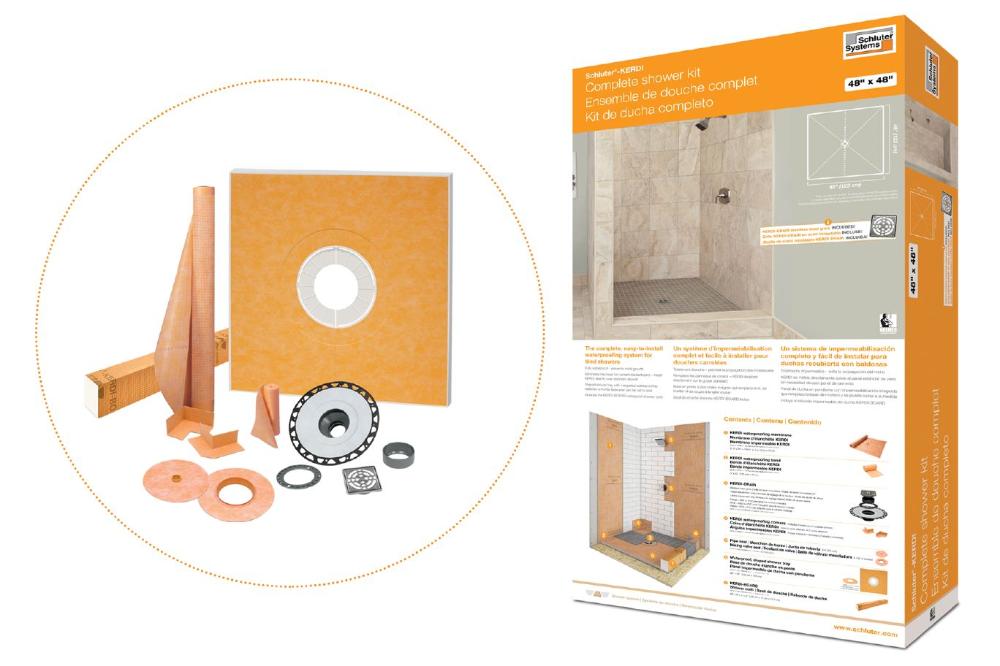 Schluter Kerdi Shower Kit Flg Shower Kits Shower Curb