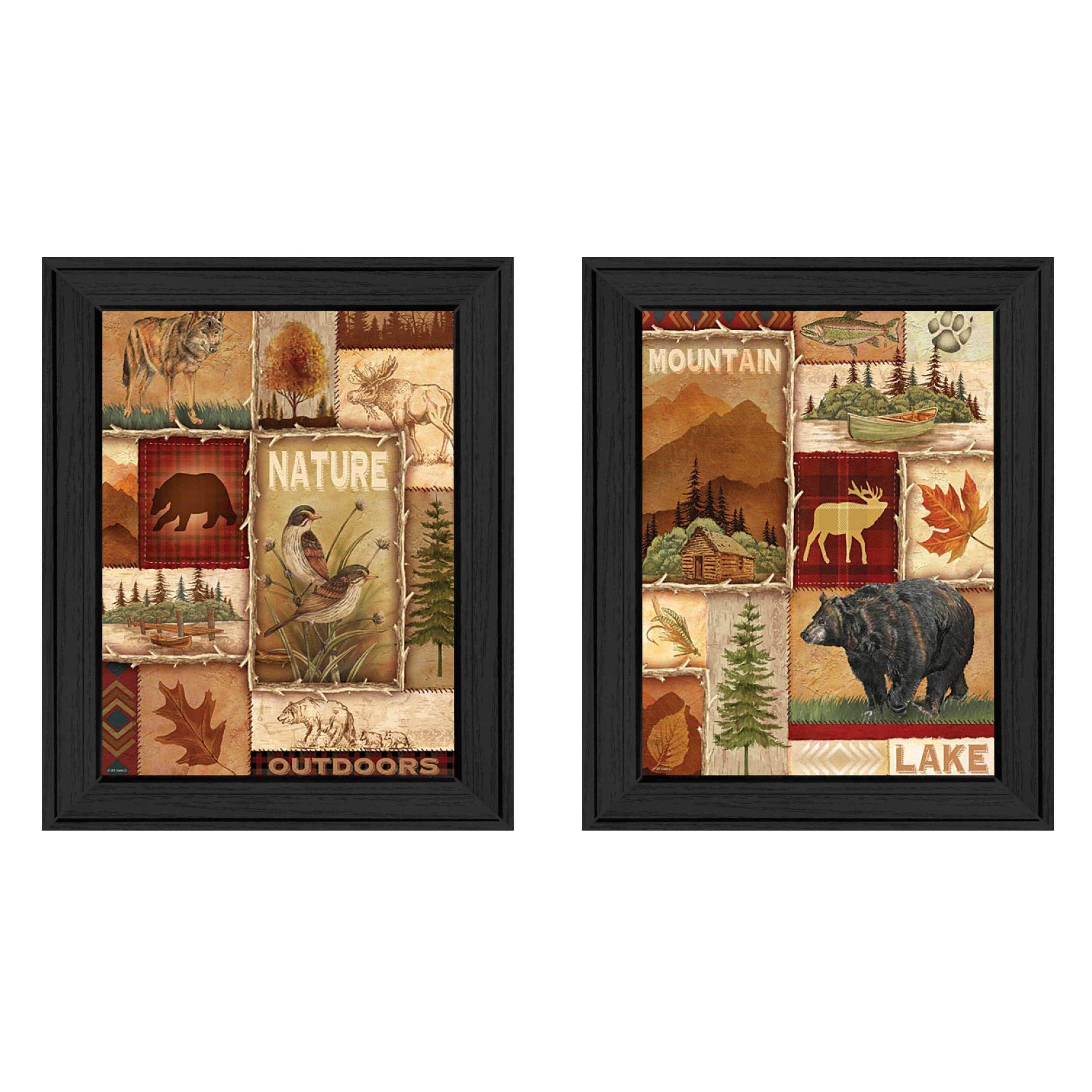 Trendy Decor 4U Ed Wargo \'Lodge Collage\' Framed Print Art | Cabin ...