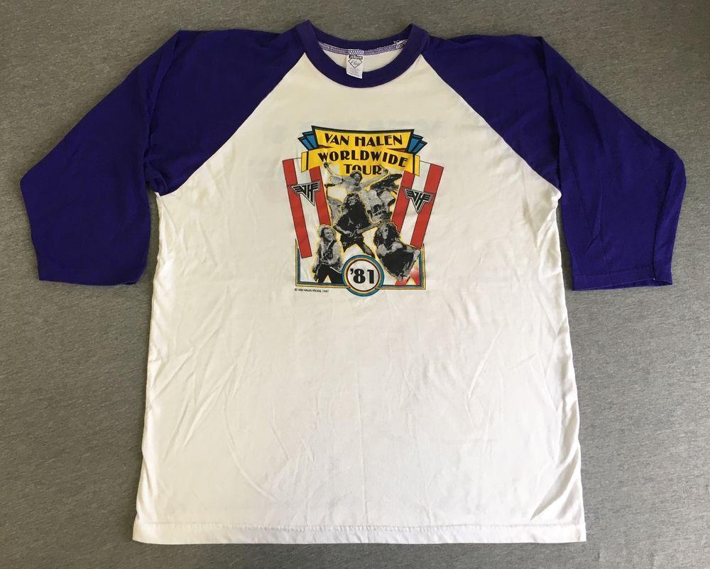 Van Halen Shirt 1981 World Tour Vintage 80s Jersey Tshirt Fair Warning Xxl Euc Van Halen Shirts Jersey Tshirt Shirts