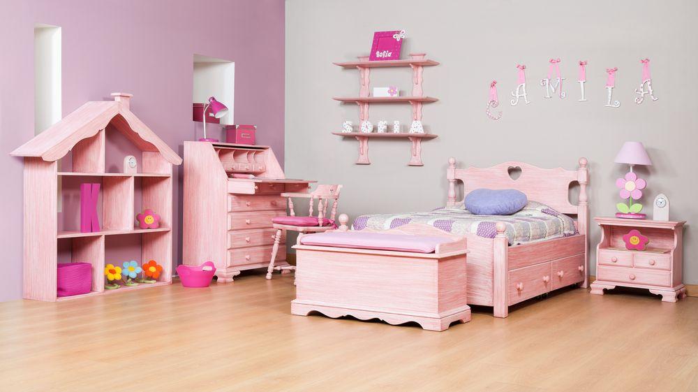Cuarto para niña   lenceria   Dormitorio rosa, Camas para niñas y ...